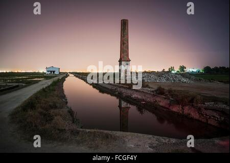 Fireplace and channel; El Saler; VALENCIA; SPAIN. - Stock Photo