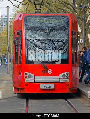 Tramway. Cologne, North Rhine-Westfalia. Germany, Europe. - Stock Photo