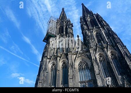 Cathedral of Cologne, North Rhine-Westfalia. Germany, Europe. - Stock Photo