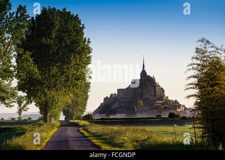 Mont Saint-Michel Benedictine abbey, Lower Normandy, Manche, France, Europe - Stock Photo