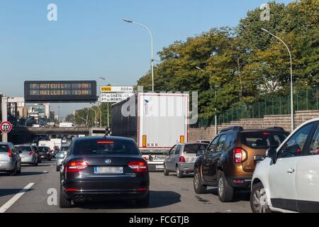paris france traffic jam in central paris stock photo royalty free image 48455186 alamy. Black Bedroom Furniture Sets. Home Design Ideas