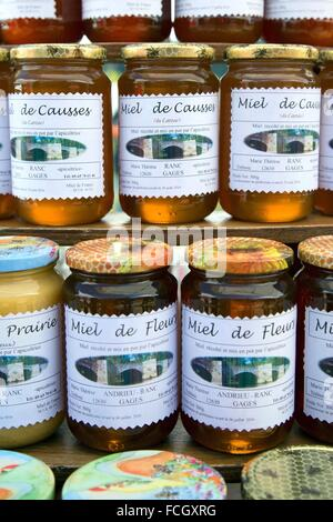 PRODUCE OF THE LAND, HONEY, (12) AVEYRON, FRANCE, EUROPE - Stock Photo