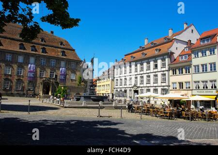 Lindau, Market Square, Old Town, Germany, Bavaria, Allgäu, Lake constance, Bodensee,. - Stock Photo