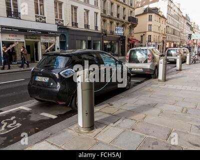 AUTOLIB IN PARIS (75), ILE-DE-FRANCE, FRANCE - Stock Photo