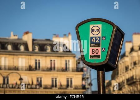 TRAFFIC CIRCLE ON THE CHAMPS ELYSEES PARIS, FRANCE - Stock Photo