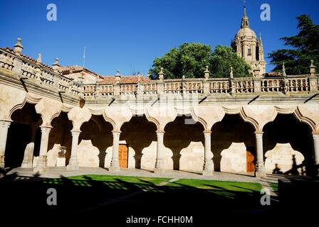 Patio of the Schools in the University of Salamanca, Spain. - Stock Photo