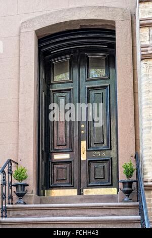 Elegant front entry double doors on a greenwich village for Elegant front doors