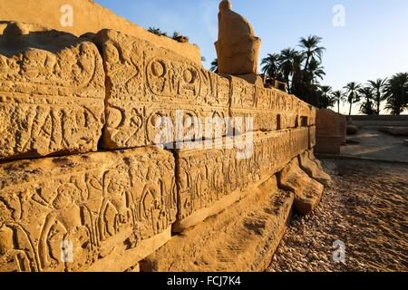 Mortuary Temple of Seti I, the father of Rameses II 19th dynasty, ruled 1318-1304 BC, west bank, Luxor, Egypt - Stock Photo