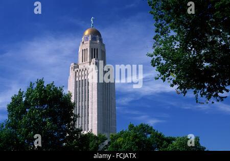 State capitol, Lincoln, Nebraska. - Stock Photo