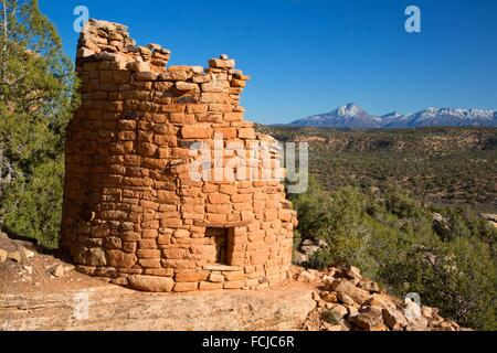 Painted Hand Pueblo ruins, Canyons of the Ancients National Monument, Colorado. - Stock Photo