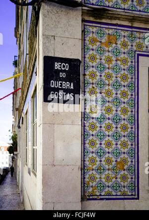 Street on Lisbon, Portugal - Stock Photo