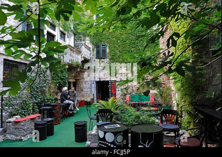 Academia Ghetto Club, Dosud 10 street, Old Town, Split, Croatia, Southeast Europe. - Stock Photo