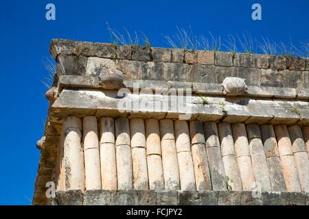 House of the Turtles, Uxmal Mayan Archaeological site, Yucatan, Mexico - Stock Photo