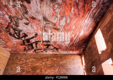 Inside the Urn Tomb, Royal Tombs, Petra, Jordan - Stock Photo