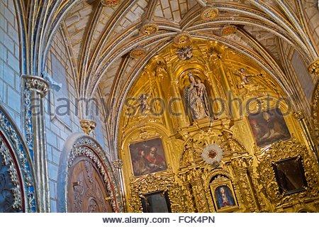 Interior View, Cathedral of Cuenca, Catedral de Santa María y San Julián de Cuenca, Basilica of Our Lady of Grace, - Stock Photo