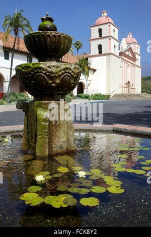 Santa Barbara, California, United States: Old Spanish Mission, first constructed in 1786. - Stock Photo