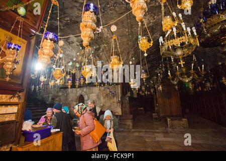 Church of the Sepulchre of Saint Mary, Mary´s tomb, Tomb of the Virgin Mary, Jerusalem, Israel. - Stock Photo