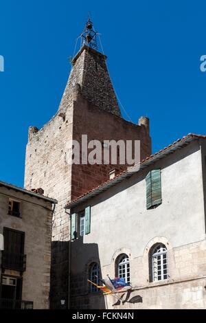 Medieval town of Villefranche-de-Conflent or Vilafranca de Conflent, Conflent region, Pyrénées-Orientales department, - Stock Photo