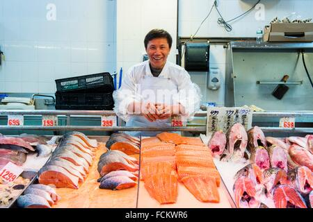 Seafood Department In Asian Market In Albany New York