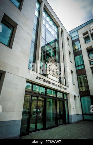Westminster Magistrates Court building, London, UK. - Stock Photo