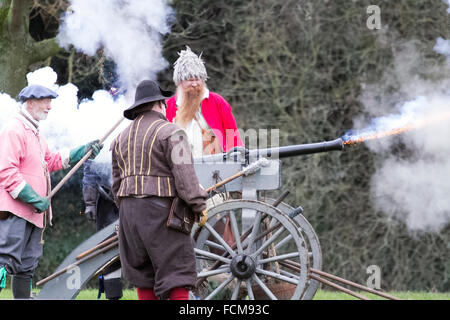 Battle of Nantwich, Cheshire, UK.  23rd January 2016.  For over 40 years the faithful troops of The Sealed Knot - Stock Photo