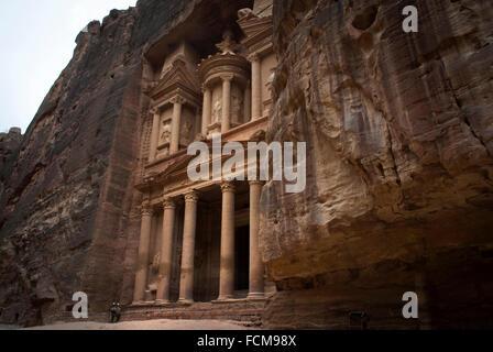Al Khazneh (The Treasury) in Petra, Jordan. - Stock Photo