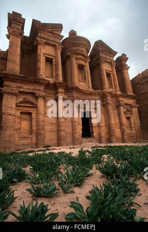 The Monastery of Al Deir in Petra, - Stock Photo