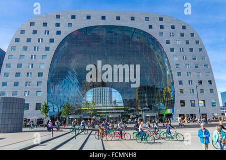 Market Hall Markthal Rotterdam, the Netherlands - Stock Photo