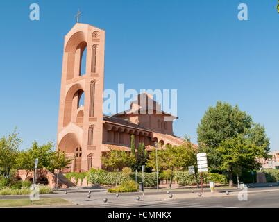 Iglesia de Santa María de Caná, Pozuelo de Alarcón, Madrid provice, Spain - Stock Photo