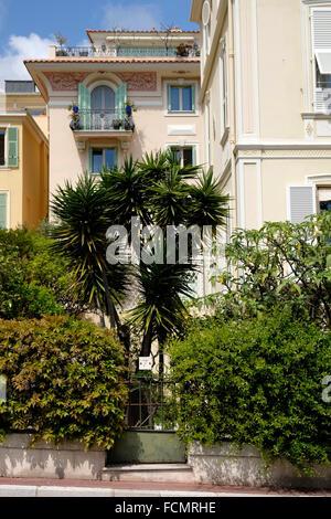Wealthy apartment building in Monaco. - Stock Photo
