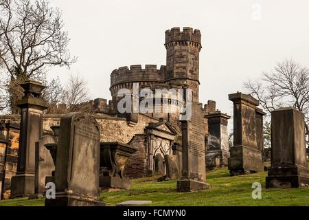 Old Calton Burial Ground in Edinburgh - Stock Photo
