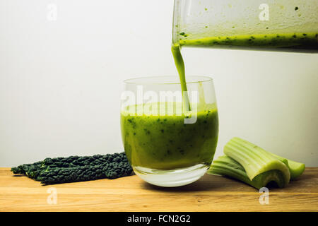 Sirtfood smoothie with celery and kale Stock Photo - Alamy