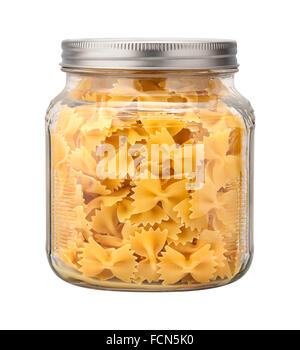 Farfalle Bow Tie Pasta in a Glass Jar - Stock Photo