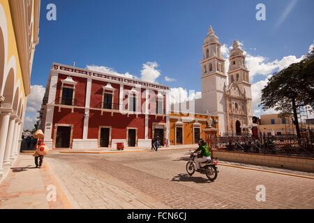 Catedral de Nuestra Senora de la Purisima Concepcion, Cathedral of Campeche at Zocalo in the historical center listed - Stock Photo