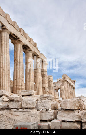 The Parthenon is a former temple on the Athenian Acropolis, Greece. - Stock Photo