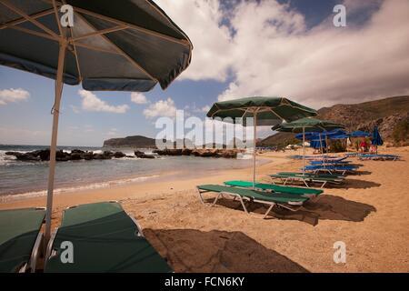Scene from the Falasarna beach, Chania Region, Crete, Greek Islands, Greece, Europe. - Stock Photo