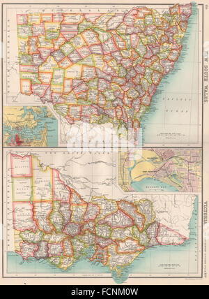 SOUTH WALES Antique map Counties Railways roads canals PHILIP