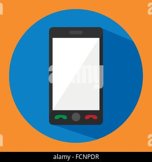 phone in style flat - Stock Photo