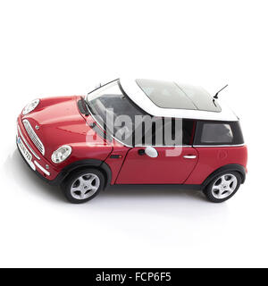 New Style Mini Cooper on a White Background - Stock Photo
