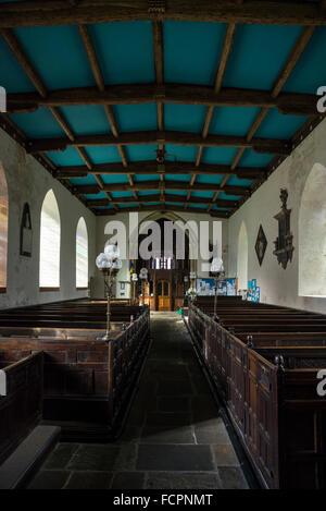 Interior of St Edmund's Parish Church in Castleton, Derbyshire. - Stock Photo