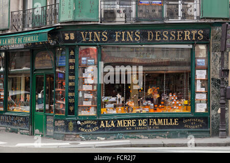 A la Mere de Famille, Paris's oldest chocolate shop in the 9th Arrondissement, France - Stock Photo