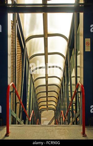 Wonky station staircase - Stock Photo