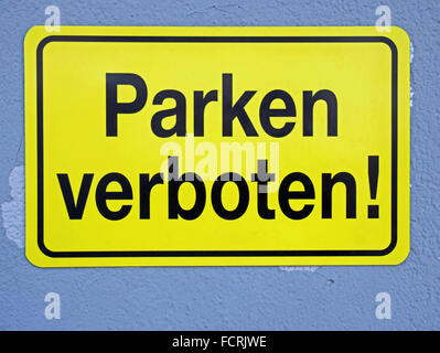 no-parking zone, traffic sign - Stock Photo