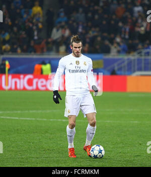 LVIV, UKRAINE - NOVEMBER 25, 2015: Gareth Bale of Real Madrid in action during UEFA Champions League game against - Stock Photo