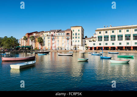Loews Portofino Bay Hotel at Universal Orlando, Orlando, Florida, USA - Stock Photo
