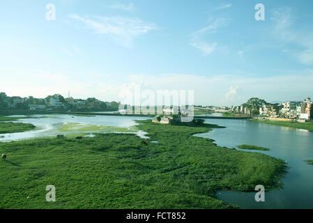 Vaigai River Madurai Tamil Nadu India - Stock Photo