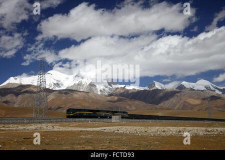 Qinghai Tibet Railway - Stock Photo