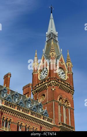 St Pancras Renaissance Hotel, International railway station, Euston Road, London NW1, United Kingdom - Stock Photo