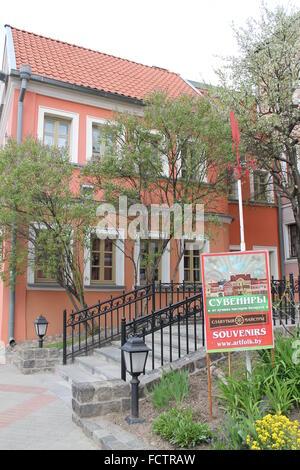 beautiful retro style home museum of M. Bogdanovich, May, 2015, Minsk - Stock Photo
