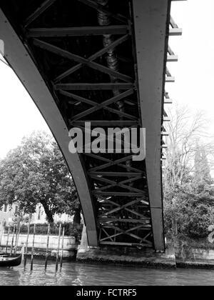 Academia bridge over Grand Canal, Venice, Italy - Stock Photo